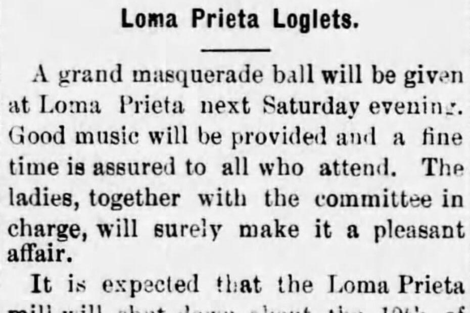 Loma Prieta Loglets sample